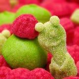 Färgade fruktgodisar Royaltyfri Fotografi