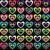 Färgade hjärtor Royaltyfri Bild