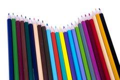 färgade isolerade blyertspennan för bakgrund pencils den färg white Royaltyfri Bild