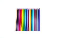färgade isolerade blyertspennan för bakgrund pencils den färg white Arkivfoton