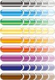 färgade knappar Royaltyfria Bilder