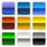 färgade knappar Arkivbild