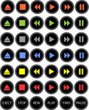 färgade knappar Arkivbilder