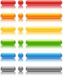 färgade knappar Arkivfoton