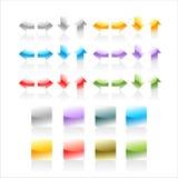 färgade knappar Arkivfoto
