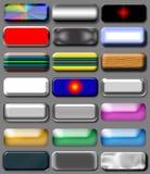 färgade knappar Vektor Illustrationer
