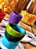 färgade koppar Royaltyfri Foto