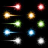 färgade lampor Royaltyfria Bilder