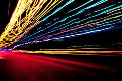 Färgade ljus för neon Arkivfoton