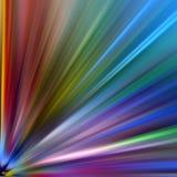 färgade ljusa strålar Royaltyfri Fotografi