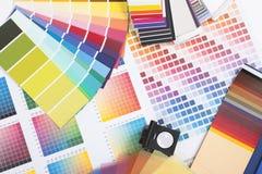 färgade märkes- provkartor Royaltyfria Foton