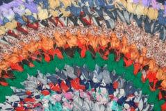 färgade många trasan arkivbild