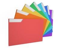 Färgade mappar Stock Illustrationer