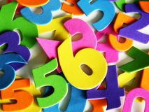 Färgade nummer Arkivbilder