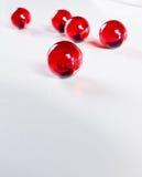färgade pärlor Arkivbilder