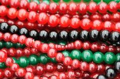 färgade pärlor Royaltyfri Bild