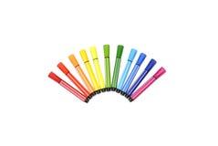 Färgade pennor Royaltyfri Bild