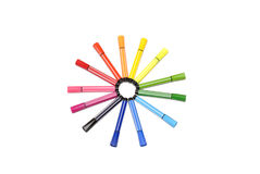 Färgade pennor Royaltyfria Foton