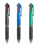 färgade pennor tre Fotografering för Bildbyråer