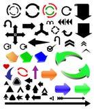 färgade pilar Arkivbild
