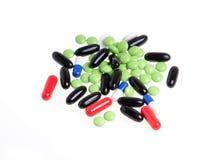 färgade pills Fotografering för Bildbyråer