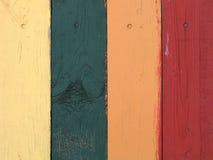färgade plankor royaltyfria bilder