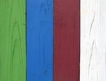 färgade plankor Royaltyfri Fotografi