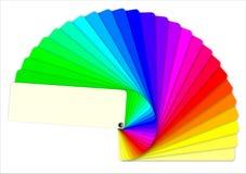 färgade provkartor för bok vektor illustrationer