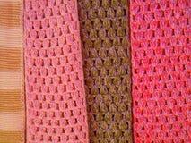 Färgade remsor av handarbete royaltyfri bild