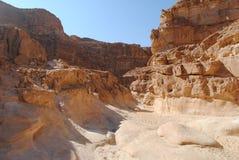 färgade rocks för kanjon Royaltyfri Foto