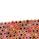 färgade sammansättningsblyertspennor Royaltyfri Foto