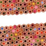 färgade sammansättningsblyertspennor fotografering för bildbyråer