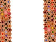 färgade sammansättningsblyertspennor arkivfoto