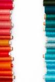 färgade spolar Arkivbild