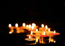 färgade stearinljus Royaltyfria Foton