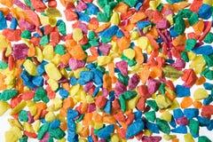 färgade stenar Royaltyfria Bilder