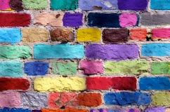 färgade tegelstenar Royaltyfri Fotografi