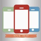 Färgade telefoner Arkivfoton