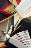 Färgade textilar Royaltyfria Bilder