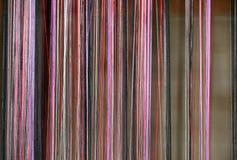 Färgade trådar för handarbete Arkivbild