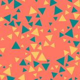 Färgade trianglar, orange bakgrund - sömlös modell royaltyfri illustrationer