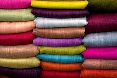 färgade tyger Royaltyfri Fotografi