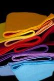 färgade tyger menade mång- royaltyfri fotografi