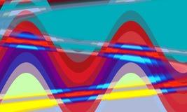 F?rgade v?gor som former, bakgrund, textur vektor illustrationer