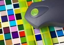färgadministrationshjälpmedel Arkivbild