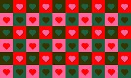 Färgar den lyckliga valentin för modellhjärtaförälskelse röd gräsplan vektor illustrationer