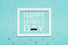 Färgar den pastellfärgade godisen för den lyckliga dagen för fader` s bakgrund För minimalismfader för lägenhet lekmanna- kort fö royaltyfri illustrationer