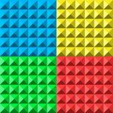 Färgar den sömlösa modellen för pyramiden stock illustrationer