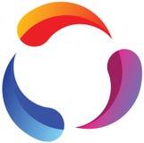Färgar logo Arkivfoton