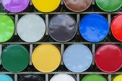 Färgar trummor Arkivfoto